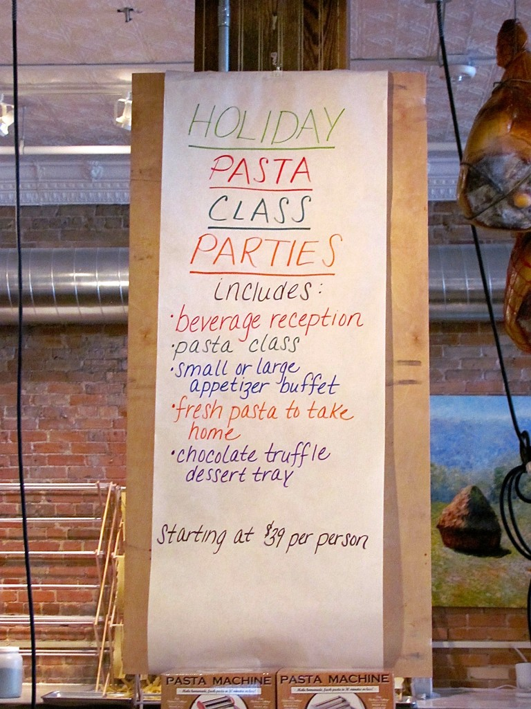 Local Epicurean holiday classes