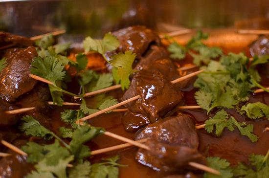 Bourbon Venison Kabobs at Ann Arbor Gourmet Gone Wild