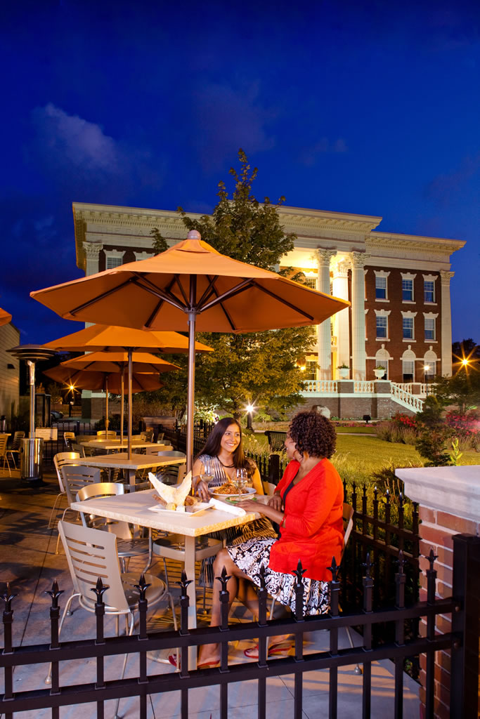 Outdoor dining at The Greenwell in Grand Rapids