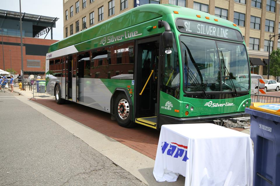 The Rapid Silver Line bus