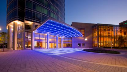 JW Marriott entrance in Grand Rapids, MI