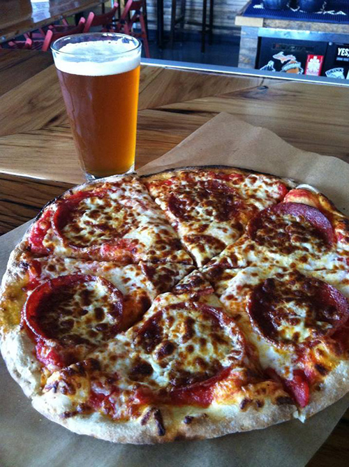 Pizza and Beer at Harmony Brewing Company in Grand Rapids