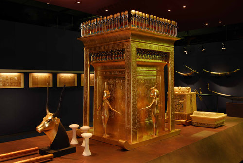 King Tut's canopic shrine