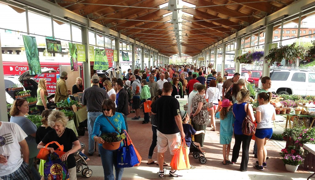 Outdoor Market Opening Day in Grand Rapids