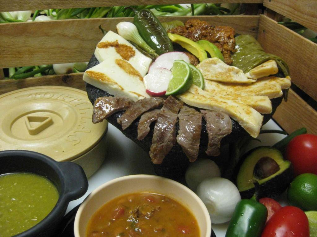 Molcajete dish at El Granjero Mexican Grill