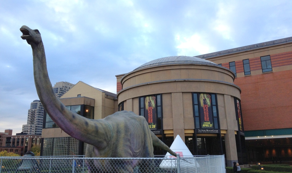 Dinosaur at the GR Public Museum
