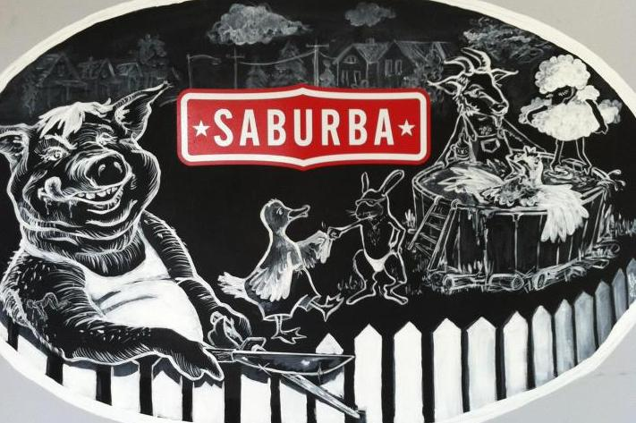 The mural at Saburba in Ada.