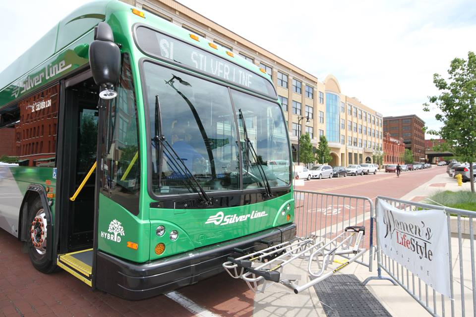 Silver line with bus racks
