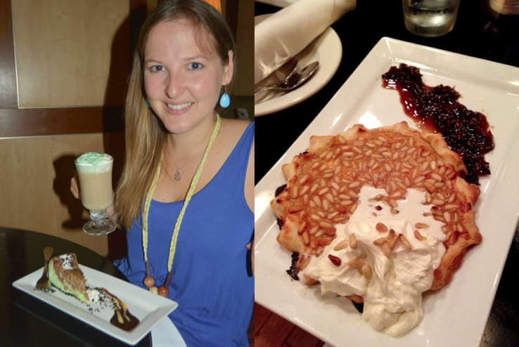 Grasshopper Cheesecake with Irish Coffee and Peach Galette at Rockwell-Republic
