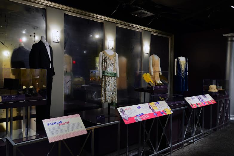 Popular clothing in the 1920s at the American Spirits: The Rise and Fall of Prohibition exhibit