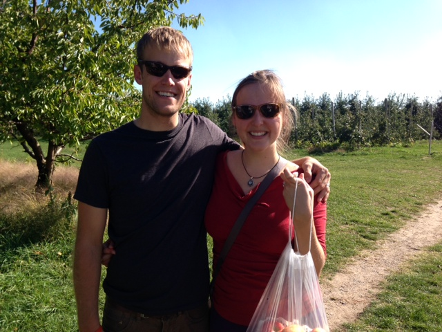 Apple picking at Robinette's.