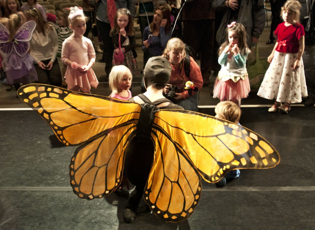 Child in a butterfly costume