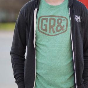 GR& Shield Tri Blend T $22