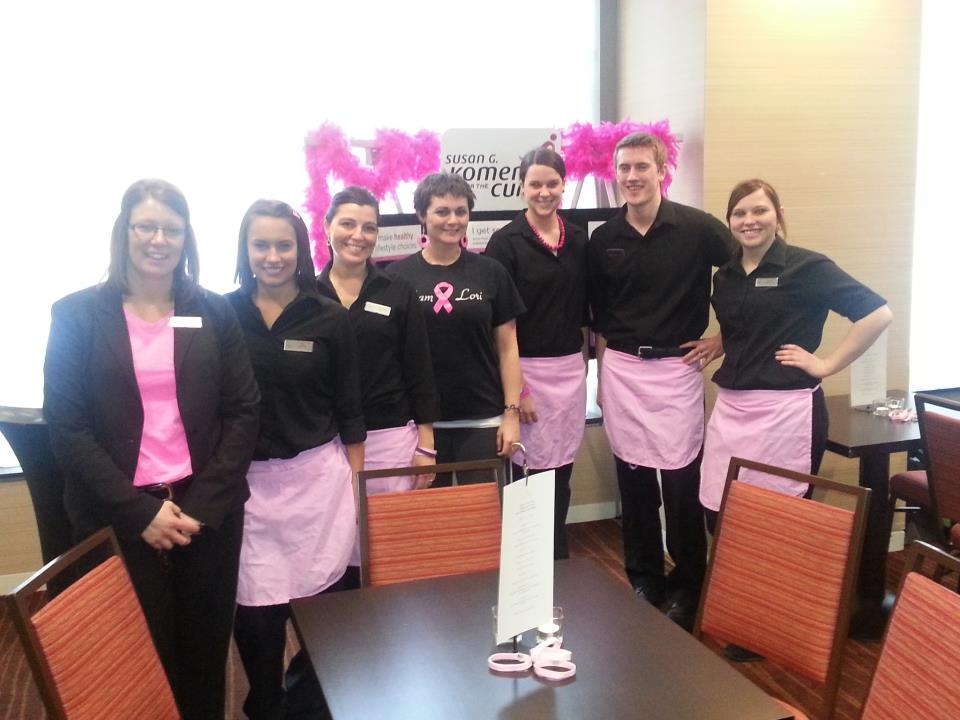 Bistro at the Courtyard staff during previous Experience Pink kickoff
