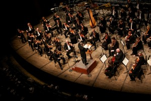 Overhead shot of the Grand Rapids Symphony