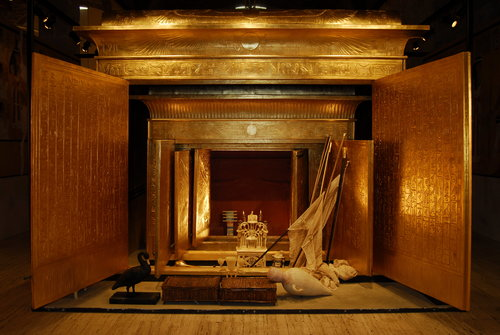 King Tut's open shrine