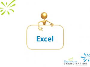 Kim Young presentation slide on Microsoft Excel