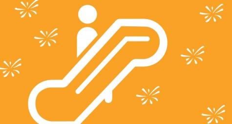 stylized escalator image