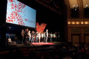 Bill Holsinger-Robinson and the TedX Grand Rapids 2014 team. Photo courtesy TEDxGrandRapids.