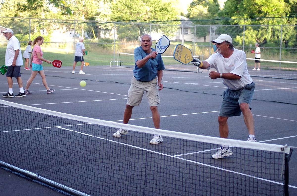 Pickleball At McDonough Park In Eau Claire, Wisconsin