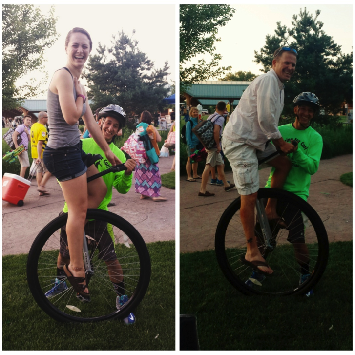 The one time my dad and I learned to unicycle at Sounds Like Summer - Photo prodivded by: Berit Breed