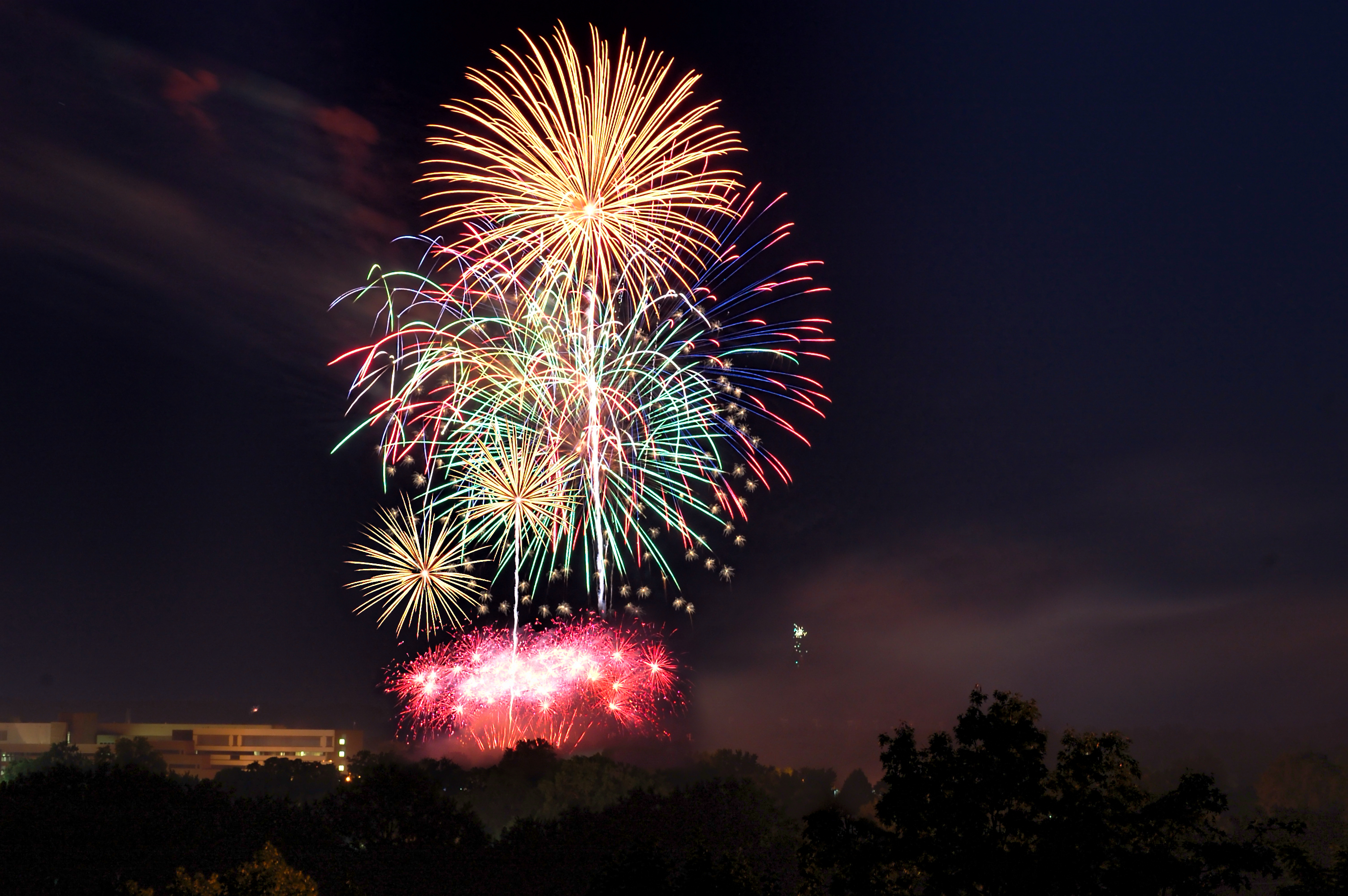 Fireworks in Eau Claire, WI - Photo by: Tim Abraham