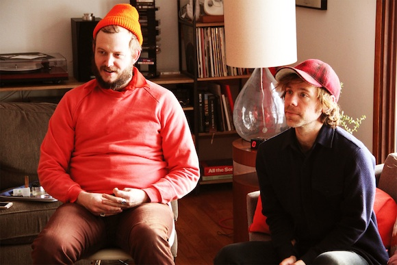 Justin Vernon and Aaron Dessner - Photo by: Nick Meyer/Volume One