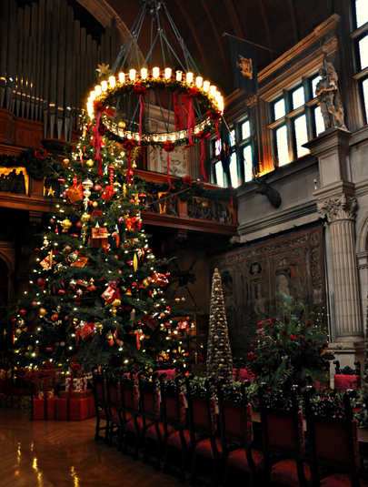 Christmas Tree in the Great Hall at Biltmore in Asheville