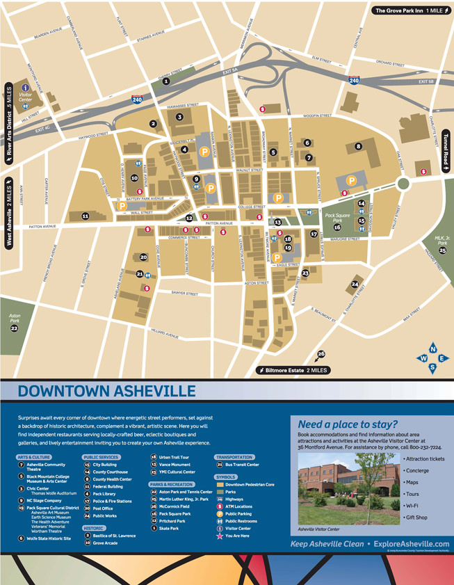 Getting Around Asheville – Tourist Attractions Map In Charlotte Nc