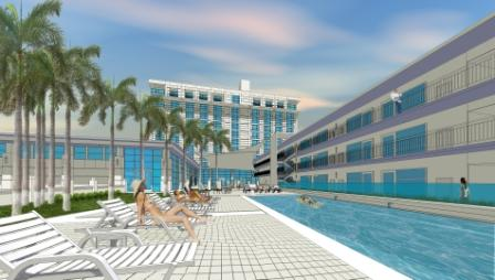 Crowne Plaza pool shot