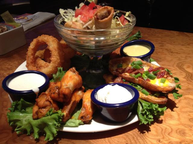 Jumbo Combo Sampler at The Hard Rock Cafe
