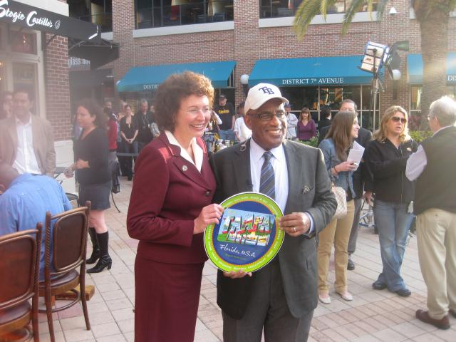 Ybor City: Al Roker and Mayor Pam Iorio
