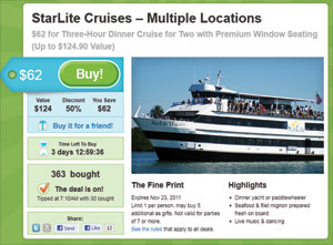 Starlite Cruises Groupon Deal