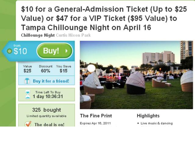 Groupon Deal for Saturday Night!