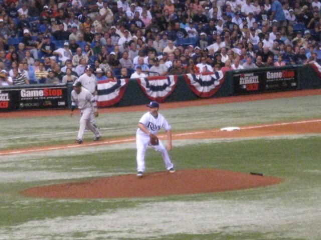Kazmir on the Mound for the Rays