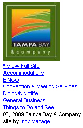 The New Simplified Mobile Interface from Tampa Bay & Company