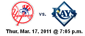 Yanks vs Rays Tomorrow Night