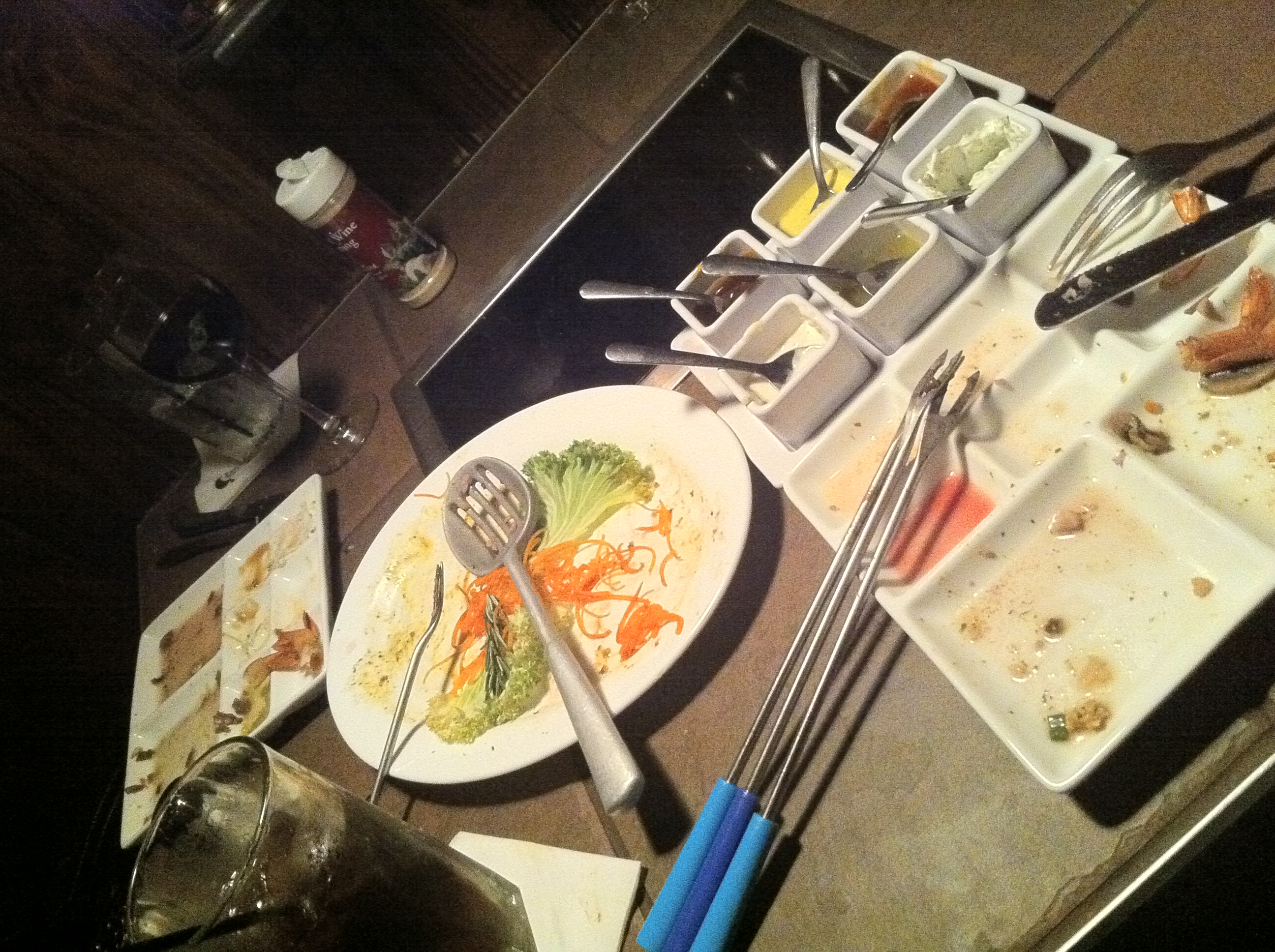 This is hwat your table looks like afterwards at theMelting Pot of Tampa