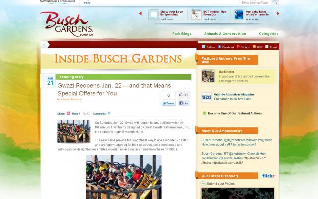 Busch Gardens Tampa Bay Blog