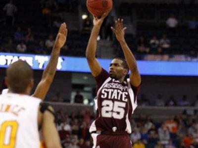 Courtesy of MSU Athletics: Phil Turner sinks the Decisive three