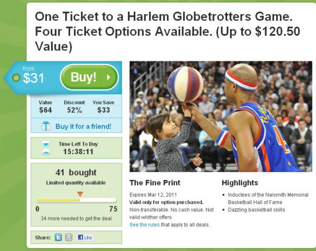 Groupon Tampa GlobeTrotters