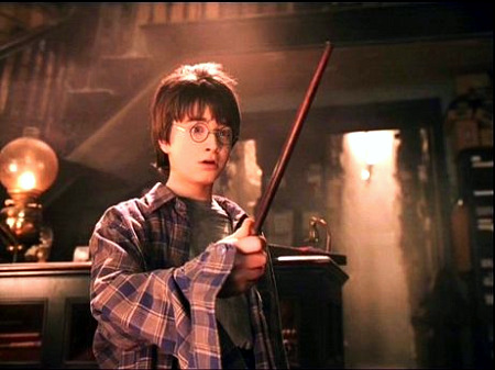 Harry Potter with Wand
