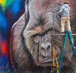 Gorilla Mural