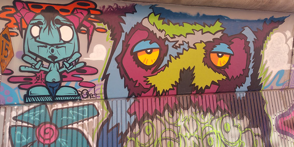 Fruitvale Stay Aware Mural with owl