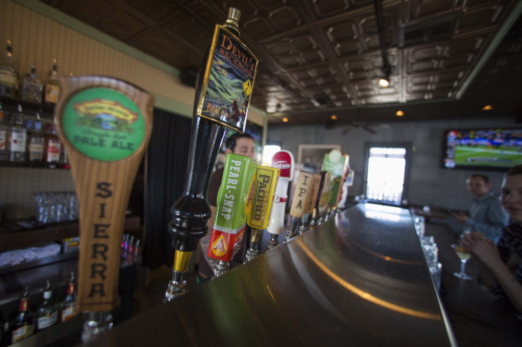 Craft beer on tap in Austin, Texas.