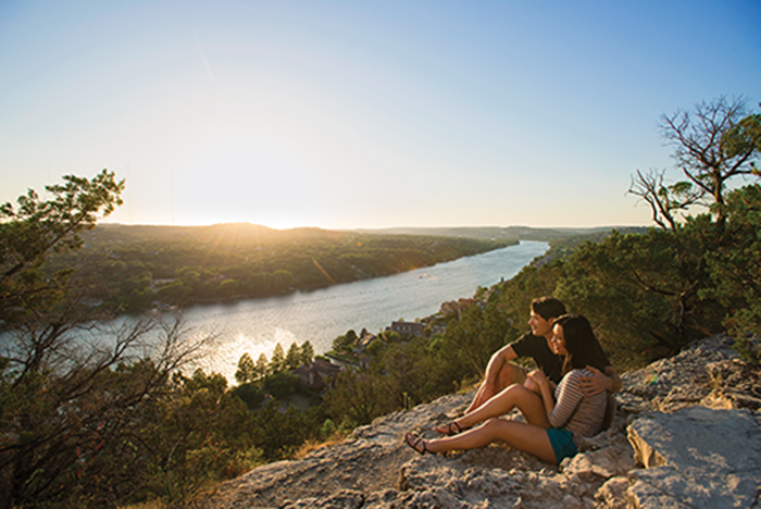 Outdoors Austin in the fall. Mount Bonnell.