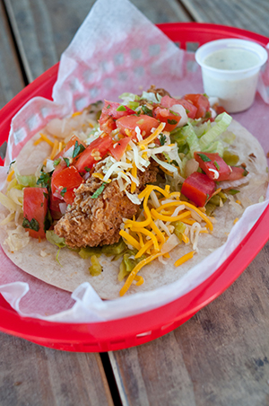 Also worth the calories, Torchy's Trailer Park Taco (be sure to get extra trashy). Photo by Aimee Wenske.