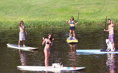 Paddle Boarding in Marble Falls