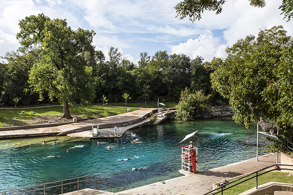 The glorious Barton Springs Pool!
