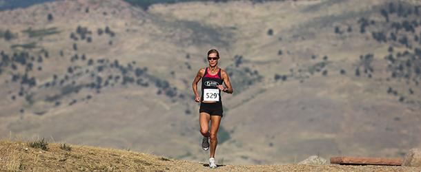 Runner in Bouder Foothills